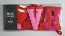 """Martha Stewart """"Forever & Always"""" Fabric Garland, 6.25ft."""