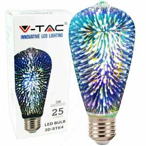 Stunning 3W LED 3D Decor Light 220 - 240V Novelty Lamp Filament Fireworks Bulb