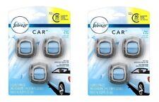 6 FEBREZE Car Air Freshener Vent Clips Eliminates Odors LINEN & SKY Scent