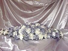 """SILVER & IVORY LONG TOP TABLE DECORATION DIAMANTE'S CRYSTAL""""S AND BLING."""