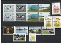 Ireland Mint Never Hinged Rugby Golf Toadstools Etc Stamps Some Pairs ref 22078