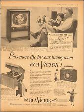 "1953 Vintage ad for RCA Victor 21""Jeffrey Big Screen TV  (081712)"