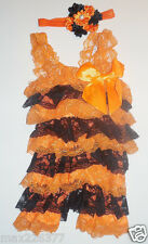 New fall Halloween outfit lace romper & headband  baby toddler 9-18 months