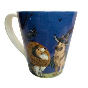 Pier 1 Halloween Dog Mug; Puppy Pet Ironstone Coffee Tea Cup; Park Avenue Pups