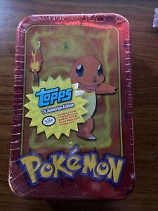 Pokemon Topps TV Animation Edition Factory Sealed Charmander Tin 1999 Rare Ser 1