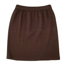 ST. JOHN Collection Santana Knit Straight Pencil Skirt Above Knee Brown Size 4