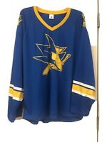 San Jose Sharks Jersey Blue Golden State Warriors Crossover - Size Mens XL