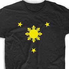 Philippine T Shirt Flag Filipino Pinoy Soccer Country Manila Star Geek Funny Tee
