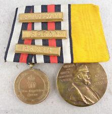 Preußen  Spange  2 Auszeichnungen 1870-71 mit 3 Gefechtsspangen