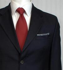 CHAPS Ralph Lauren Mens Sport Coat Jacket Size 38 Short Solid Dark Navy