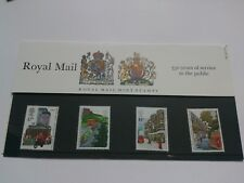 gb stamps presentation pack 163,royal mail 350 years of service,1985..
