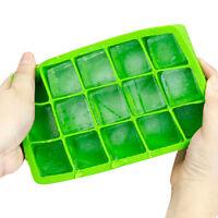 Silikon Eiswürfelform Eiswürfelbereiter 15 Eiswürfel würfel Quadrat