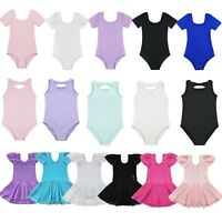 Toddler Girls Gymnastics Leotard Dress Ballet Dance Tutu Skirt Dancewear Costume