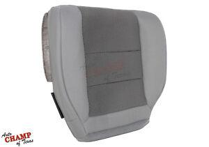2003-2007 Ford F250 F350 XLT Quad-Cab -Driver Side Bottom Cloth Seat Cover Gray