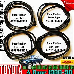 FOR TOYOTA HILUX 4RUNNER LN106 LN107 LN85 RN106 YN106 RN85 YN85 door seal rubber