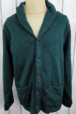 New Levi's Men's Rand Shaw Collar Fleece Sweater Cardigan Pine Grove Green OC0