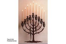 "Erte ""Tree of Life"" Bronze Candelabra Menorah"