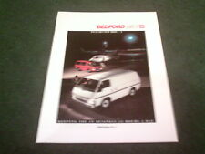 Sept 1988 / 1989 Edition 1 BEDFORD Vauxhall MIDI inc 4x4 20pg BROCHURE - B3078