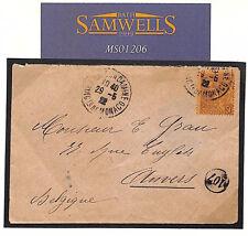 MS1206 1922 MONACO 50c Rate Cover Belgium Anvers *107* Postman {samwells-covers}