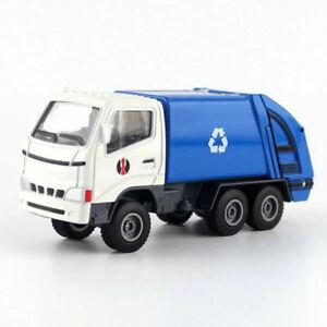 1:60 Garbage Dump Truck Sanitation Vehicle Model Car Diecast Toy Blue Kids Gift