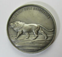 Large English Hallmarked Solid Silver Lion ARA Medal
