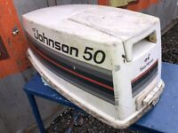 Hood Top Cover Cowling 50HP Johnson 2-Stroke Outboard Motor 1980s