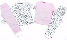 Ex F & F Girls Heart Stripe 2 Pack Snuggle Pyjamas 2 3 4 5 6 7 8 9 10 11 12 13