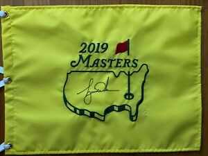 Tiger Woods Signed 2019 Masters Pin Flag