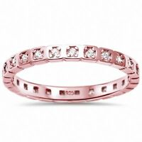 2.2mm Full Eternity Wedding Band Ring 925 Sterling Silver Choose Color
