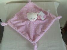 BABY KEEL PINK SPOTTY TEDDY BEAR COMFORTER BLANKET  BNWT