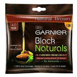 5 X Garnier Black Naturals Oil Enriched Creme Color Natural Brown 4.0