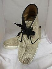 Christian Louboutin Tan And Black Nono Cotton Raffia Shoes UK 7.5 EU 41.5 LN07 6