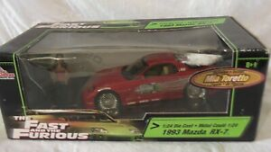 FAST AND FURIOUS 1:24 1993 RX7 WITH MIA TORETTO FIGURE ERTL RACING CHAMPIONS