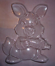 LARGE RABBIT AND CARROT EASTER CHOCOLATE MOULD OR PLASTER MOULD