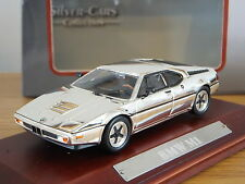 ATLAS EDITIONS SILVER CARS COLLECTION BMW M1 CHROME CAR MODEL 1:43 7687104