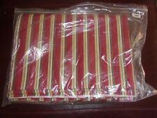 Longaberger 5 Yards Uncut Fabric - Holiday Stripe