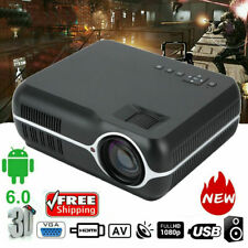 HD 1080P LED 3D LCD VGA HD*2 USB*2 TV Home Theater Projector Cinema WIFI Android