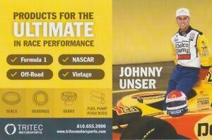 2017 Johnny Unser + Loni Joy Unser Tritec PRI Show Indy Car SCCA Hero Card