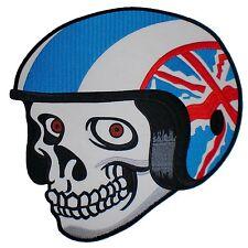 """UK Union Jack Flag Helmet British Biker Skull Big Back Jacket Vest Patch 10.5"""""""