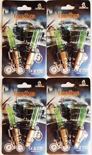 Fireflys LED *4 PACK* 8 GREEN Bike Car Tire Wheel Valve Cap USA SELLER FAST SHIP