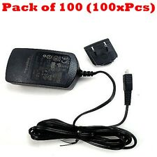 100x Blackberry 0.5A Micro USB Home Travel Wall Charger For Z10 Z30 Z3 Q20 Q10