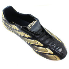 Umbro Football BOOTS Mens Sports Studs Revolution A-fg UK Size 6.5 Black & Gold