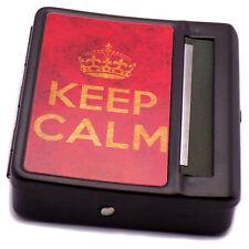 "Classic Automatic Cigarette Tobacco ""Keep Calm"" Rolling Machine Smoking Box Case"