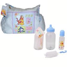 Disney Winnie Pooh Diaper Bag + 3 pc Baby Gift Set 9 oz Bottle + Bottle Brush BL