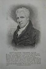 Original 1820s Antique Engraving Print Rev George Crabbe William Darton London