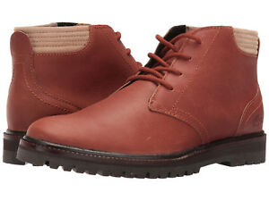Lacoste Men's Montbard Chukka US 13 M Tan Leather Ankle Boots Shoes