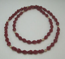 AVON FASHION JEWELRY AUTUMN GLOW SIMULATED CARNELIAN NECKLACE    ***