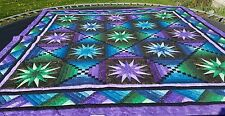 STUNNING New Amish Hand Quilted Quilt Bright Bold Colors NORTHERN LIGHTS