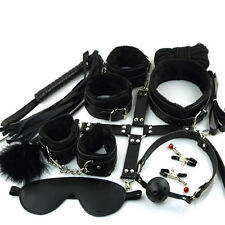 10-pcs-Adult-Bondage-Restraints-Set-Kit-Ball-Gag-Cuff-Whip-Collar-Fetish-Sex-Toy