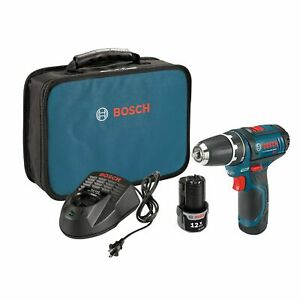Bosch PS31-2A 12-Volt 3/8-Inch Max Lithium-Ion Fuel Guage Drill Driver Kit